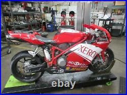 2006 03-07 Ducati 749 Biposto OEM Oil Cooler Engine Fluid Cooling Pipes Hoses