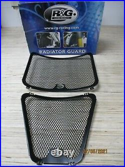 R&G BLACK RADIATOR & OIL COOLER GUARD for DUCATI STREETFIGHTER 1098, 2009-2012