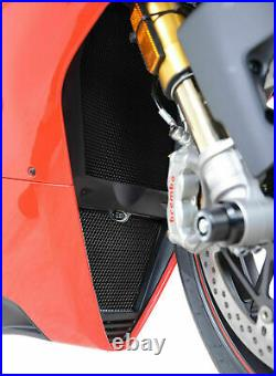 R&G BLACK Radiator Guard and Oil Cooler Guard Kit for Ducati Panigale V4S (2019)