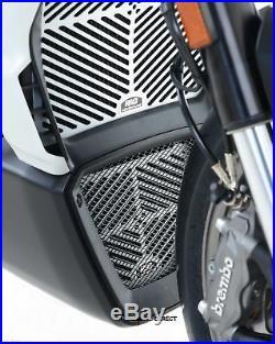 R&G RACING Brushed Aluminium RADIATOR & OIL COOLER GUARD Ducati XDiavel S 2016