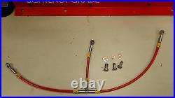 Red Ducati 998 Hel Braided Line Oil Cooler Hose